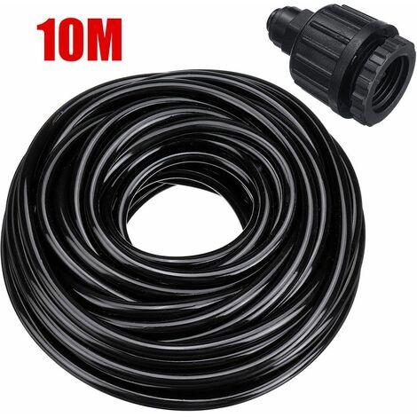 Irrigation Mist Nozzle Kit Patio Cooling System Accessory Kit Spool Hose (10m Hose Set)
