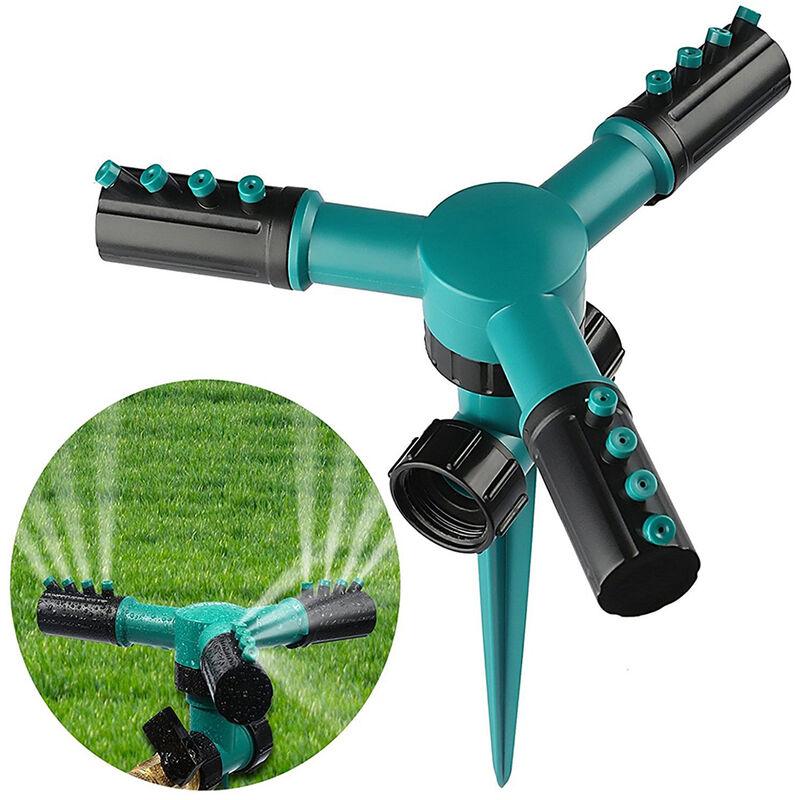 Irrigazione del prato, irrigatori d'acqua per giardino da giardino, irrigatore automatico per irrigazione con rotazione di 360 gradi, angolo di