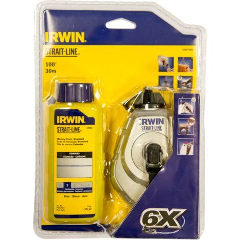 IRWIN 10507684 Pack tiralíneas 30m 6x con 113 gr. Polvo