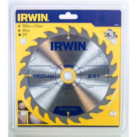 IRWIN 1897199 Disco Sierra Circular 190MM/24T