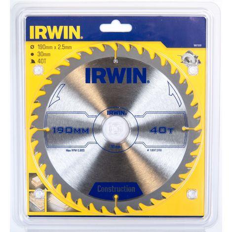 IRWIN 1897200 Disco Sierra Circular 190MM/40T