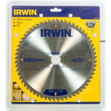 IRWIN 1907700 Disco Sierra Circular 250MM/60T MESA E INGLETE