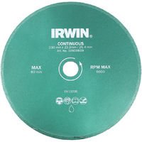 Irwin Diamond Disc Blade Continuous Wet Cutting - 200 x 22.2mm/25.4mm