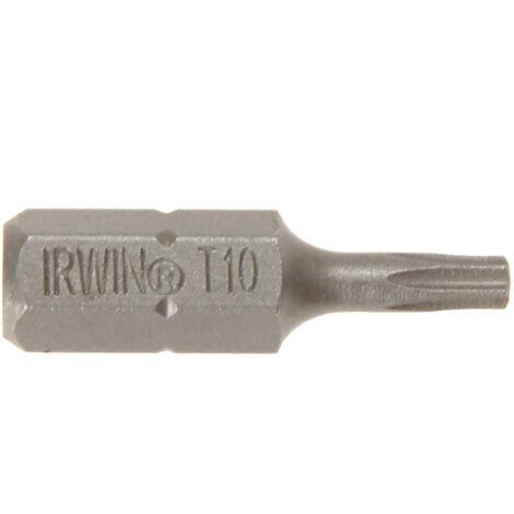 Irwin IRW10504351 Screwdriver Bits TORX TX10 x 25mm (Pack 10)