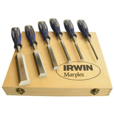 "main image of ""Irwin Marples M750 Splitproof Pro Bevel Edge Chisel Set 6pcs"""