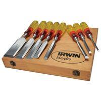 Irwin Marples MCS8 M373 8 Piece Split Proof Honed Hand Wood Chisel Set & Case