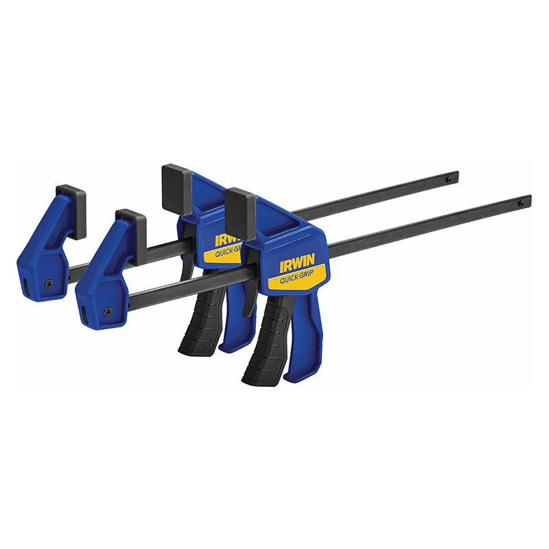 Image of IRWIN Quick-Grip T54122EL7 Mini Bar Clamp Twin Pack 300mm (12in) - IRWIN TOOLS