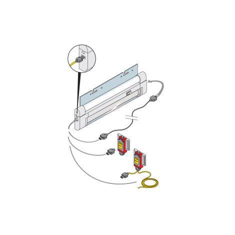 IS2 Lámpara fluorescente 8W-240V L=342mm ABB EV1040