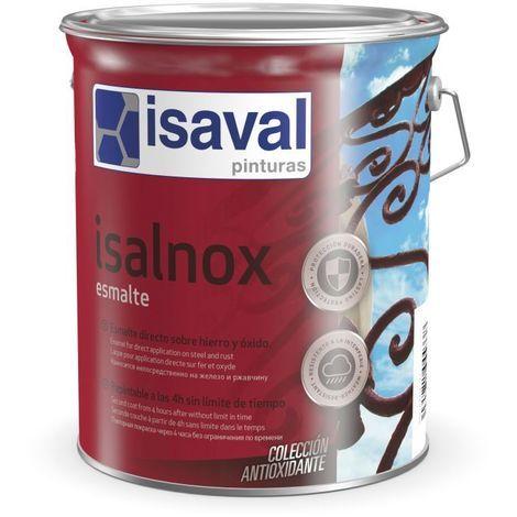 Isalnox laque anti-rouille à l'eau Satiné 0.75 litre Blanc - Isaval
