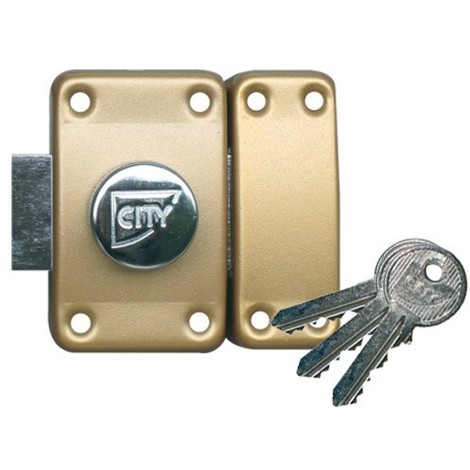 Verrou ISEO City 25 double cylindre - Cylindre 45 mm - Sur variure NV 05 - 10020452V05