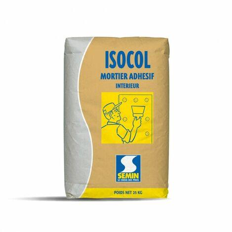 Isocol - Mortier adhésif pour plaques de plâtre - Sac de 25 Kg - Semin