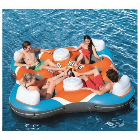 Isola galleggiante per 4 persone 257x257cm