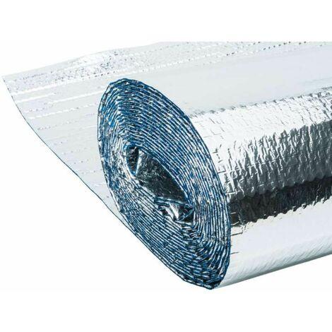 Isolant métallisé 3 couches à bulles d'air, 8m2 1,25x6,4m