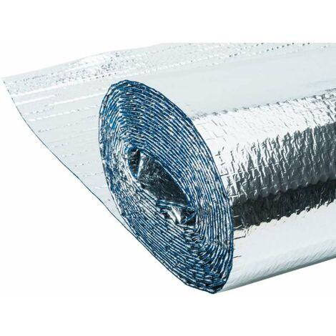 Isolant métallisé 3 couches à bulles d'air Werkapro 8m2 1,25 x 6,4m