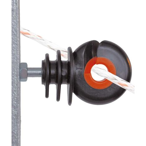 Isolateur annulaire Gallagher avec boulon professionnel pour fil et corde pour poteaux en fer paquet de 10 pièces Gallagher