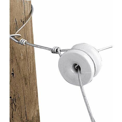 Isolateur d'angle en porcelaine pour fil et corde Gallagher professionnel Gallagher