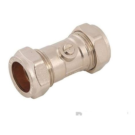Isolating Valve Chrome Plated - 22mm