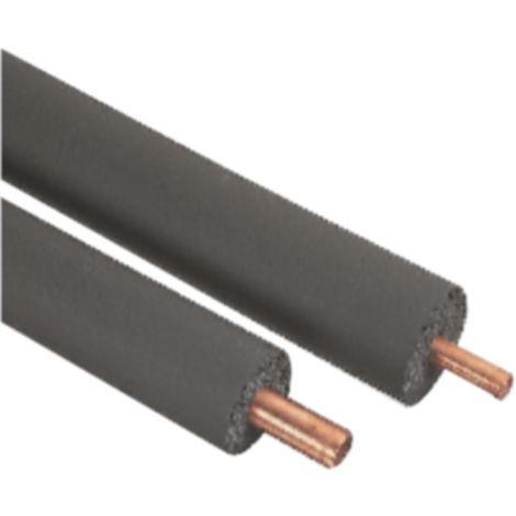 Isolation de tuyaux Caoutchouc nitrile Noir, diamètre 15mm x 2m x 25mm