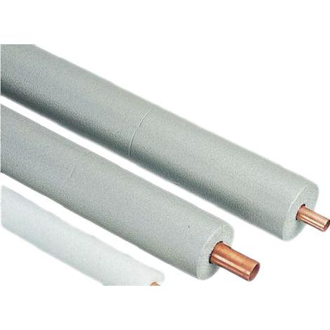 Isolation de tuyaux PE Gris, diamètre 22mm x 2m x 9mm