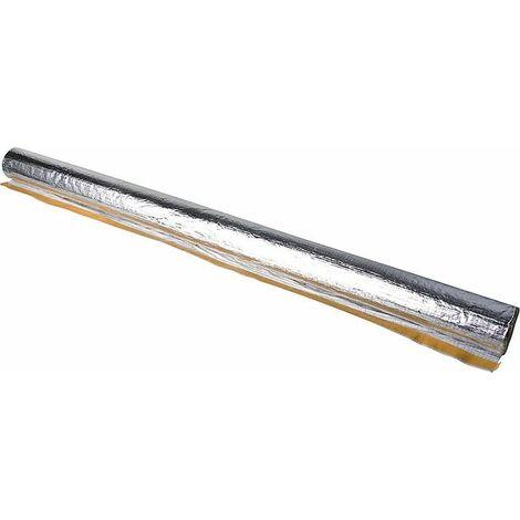 Isolation EnEV laine de roche revetement alu pour tube DN25 (35mm) epaisseur 34mm - 12m/Carton