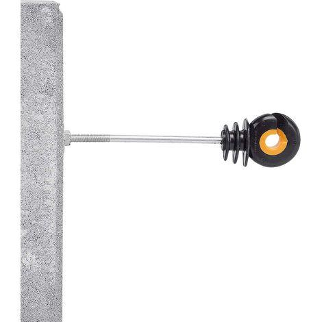 Isolatore distanziatore con bullone per pali in ferro adatto a fili e corde 10pz