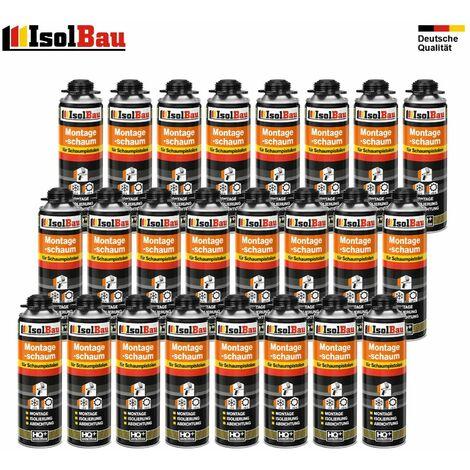Isolbau B2 Mousse 1K de montage pour pistolet 24 x flacon 500 ml de mousse de polyuréthane