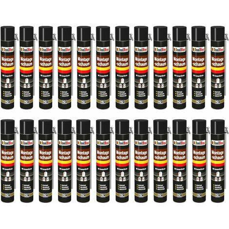 Isolbau B2 Mousse de montage 24 Boîte d'adaptation avec tube de pulvérisation 1 K de mousse d'expansion 750 ml de mousse de polyuréthane