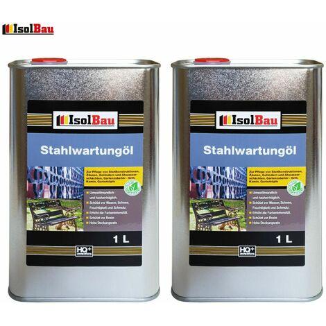 Isolbau Huile anticorrosion Huile antirouille Huile en spray 2 L Huile pénétrante Apprêt pour métal Primaire