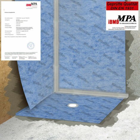 Isolbau Membrane d'étanchéité 10m2 Membrane d'étanchéité Tapis de découplage 0,67mm 00g/m2 Salle de bains du balcon