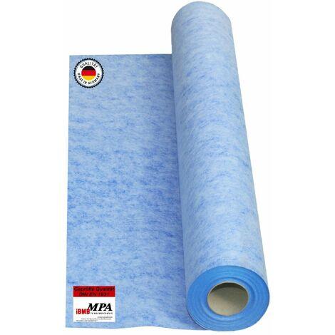 Isolbau Membrane d'étanchéité 20 m2 Membrane d'étanchéité Tapis de découplage 0,67mm 00g/m2 Salle de bains du balcon