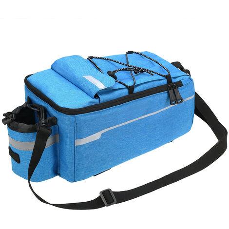Isole Coffre Glaciere Faire Du Velo Porte-Bagage Sac De Rangement Pour Bagages Reflective Vtt Velo Pannier Sac A Bandouliere, Bleu