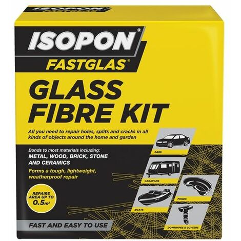 ISOPON® FASTGLAS Resin & Glass Fibre Kit Large (UPOGLLAD)