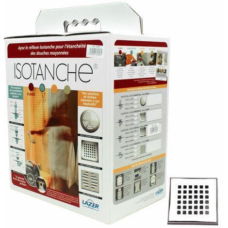 Isotanche Classic Grille carrée sortie verticale Ø50mm