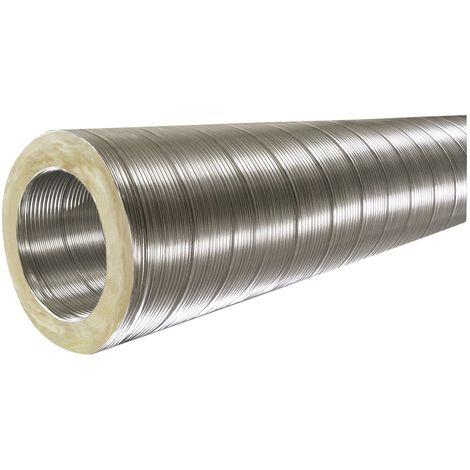 ISOTIP Conduit semi-rigide isolé 100 mm Isovac DAC - Longueur de 3 m