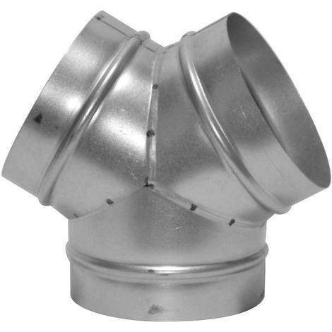 ISOTIP Culotte « Y » pour raccordement sur conduits flexibles DAC 100 mm