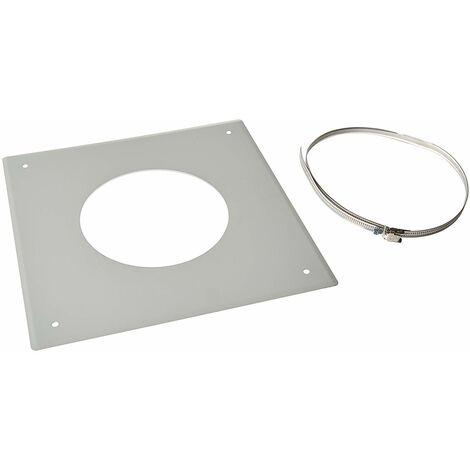 ISOTIP-JONCOUX 091315 Plaque Propreté 300 x 300 Bloc, Blanche, Diamètre 150 ou 153