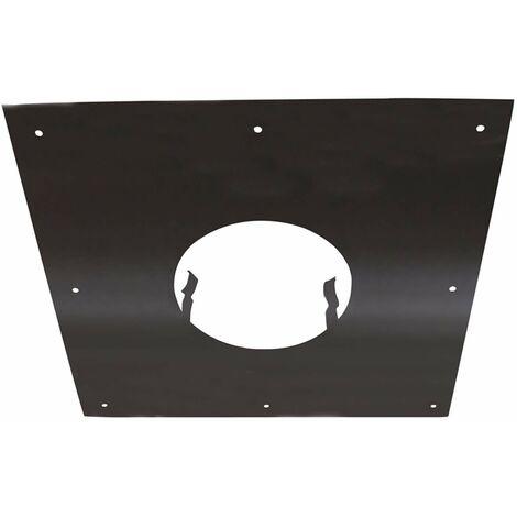 ISOTIP-JONCOUX 092115 Plaque Propreté 400 x 400, Noir, Diamètre 150 ou 153