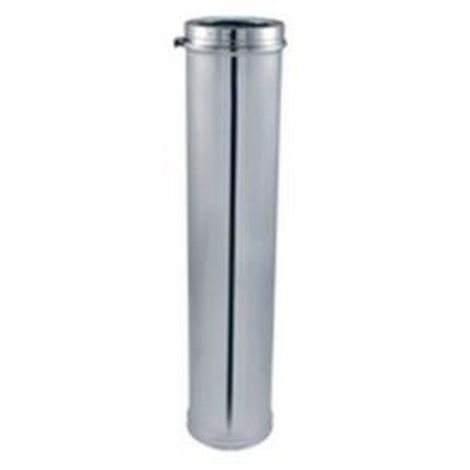 Isotip Joncoux 171012 Stainless pipe - double wall insulated ICUBE DPY D125mm - Element straight 1000mm