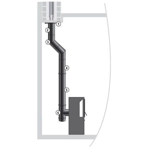 ISOTIP Kit raccordement buse arrière EMAIL 0,7 mm - Ø150 mm - Noir