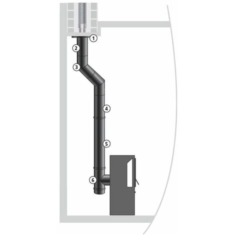 ISOTIP Kit raccordement buse arrière EMAIL 0,7 mm - Ø180 mm - Noir