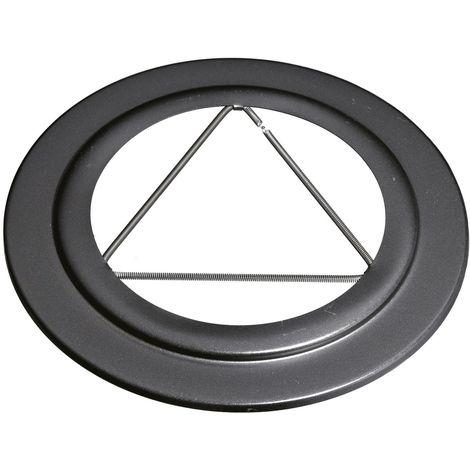 ISOTIP Rosace pour tuyau APOLLO PELLETS Email 0,7 - 80 mm - Noir