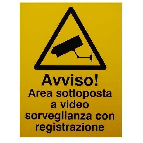 Italian CCTV Warning Window Sticker [002-0545]