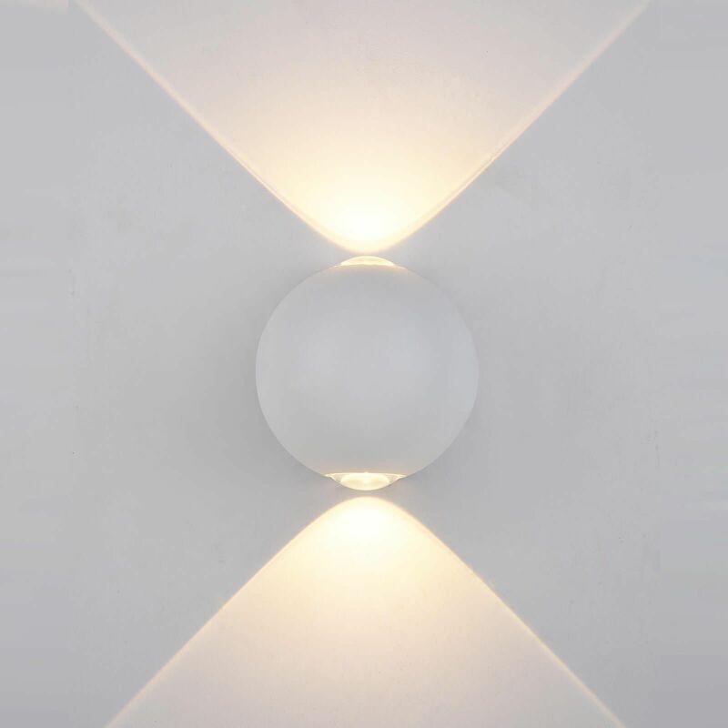 Image of 11-italux - White Carsoli aluminum garden wall light