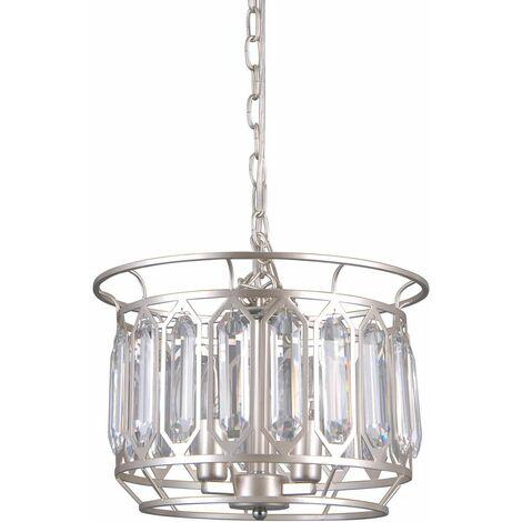 Italux Priscilla - Modern Hanging Pendant Champagne Silver 3 Light , E14