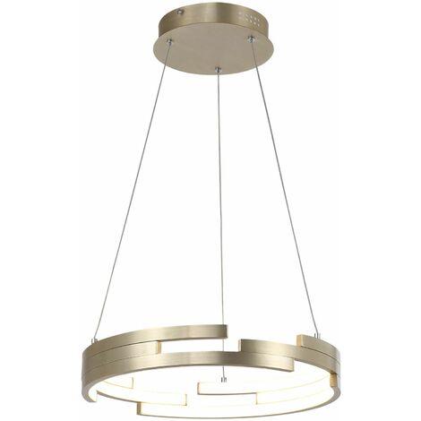 Italux Velar - Modern LED Hanging Pendant Golden, Warm White 3000K 3360lm, IP44 Dimmable