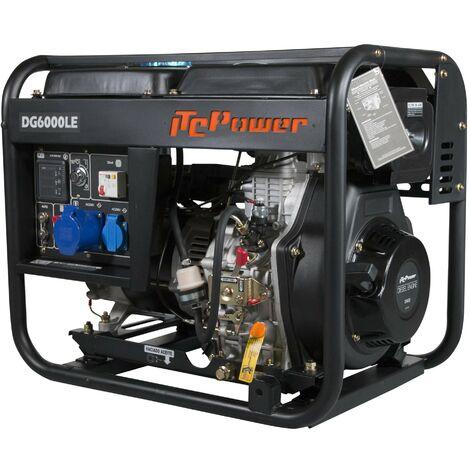 ITCPower - Generador Diesel 5,0 kw 230v. Motor D400E de 10hp con arranque electrico, panel digital y Arranque por señal y/o ATS