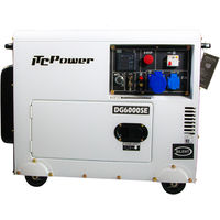 ITCPower - Generador Diesel 5,0 kw 230v. Motor D400E de 10hp con arranque electrico, panel digital y Arranque por señal y/o ATS. Insonorizado