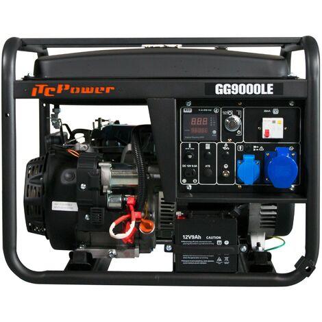 ITCPOWER - Generador Gasolina 6,0/6,5 Kw con motor ITC Power IC420E de 15 hp. Arranque eléctrico. Panel digital 5 funciones