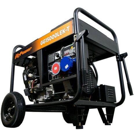 ITCPOWER - Generador Gasolina FULL POWER Monofásico y Trifásico 11 kW /15 Kva. Arranque eléctrico.