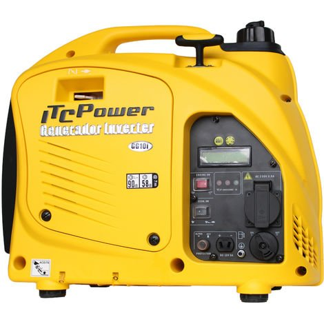 ITCPOWER - Generador Inverter 0,9/1,0 Kw. Unicamente 16 kg. Silencioso. Corriente 100% estable